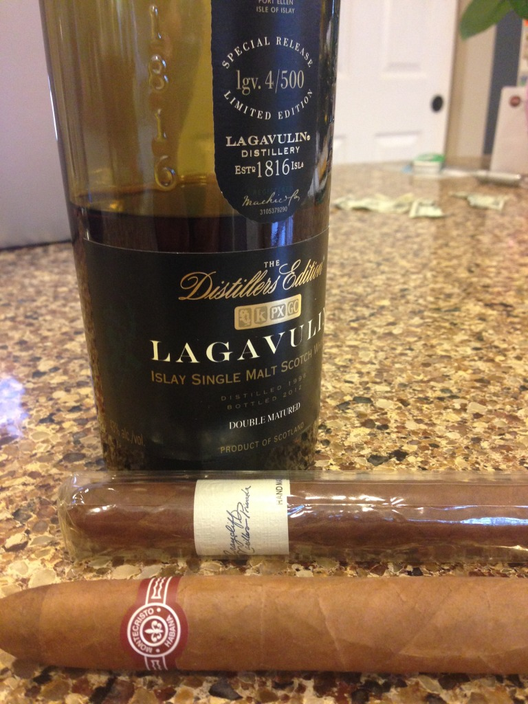 Lagavulin, Graycliff and a Montecristo